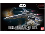 1.72 Blue Squadron Resistance X-Wing Fighter